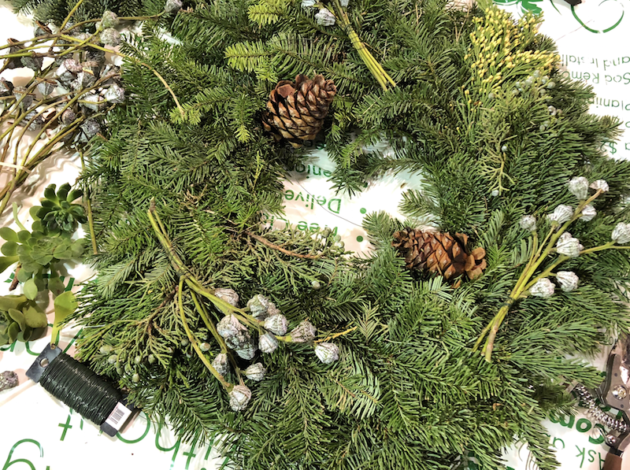 DIY Christmas Wreath Supplies