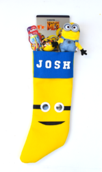 DIY Felt Minion Stocking