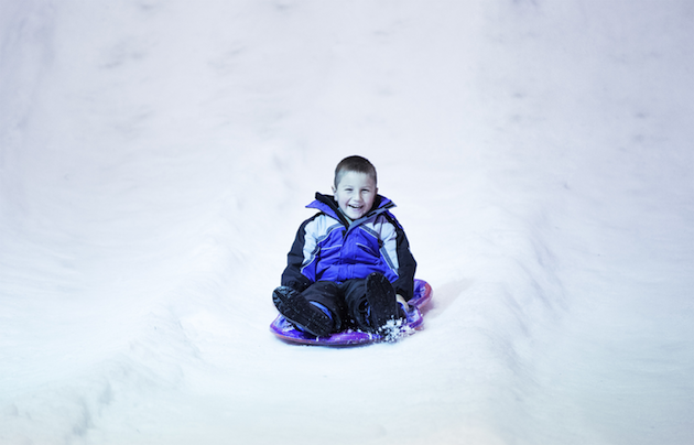 Ice Slide at Winter Fest OC