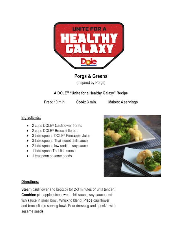 Porgs & Greens Recipe