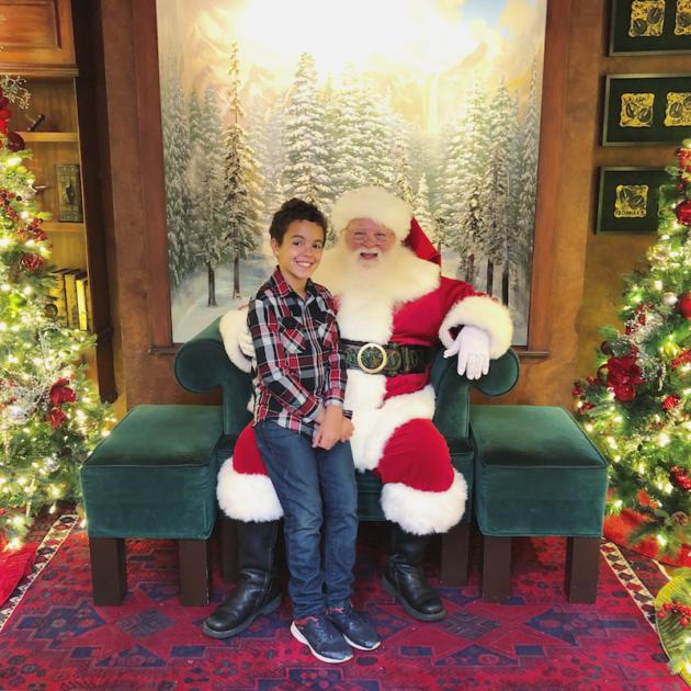 Santa at South Coast Plaza