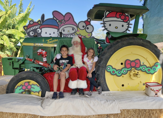 Santa at Tanaka Farms