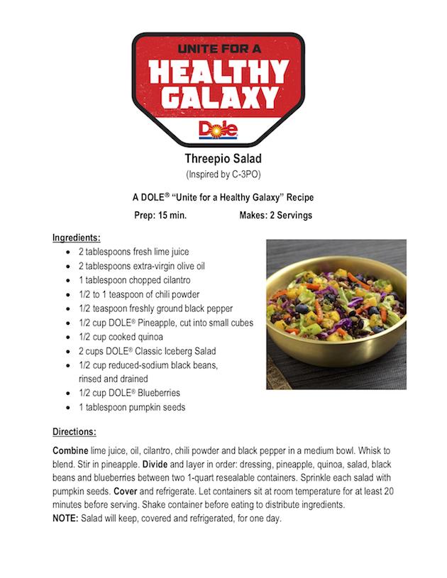 Threepio Salad Recipe