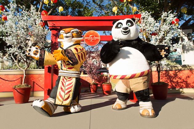 Po and Tigress at Universal Studios Hollywood