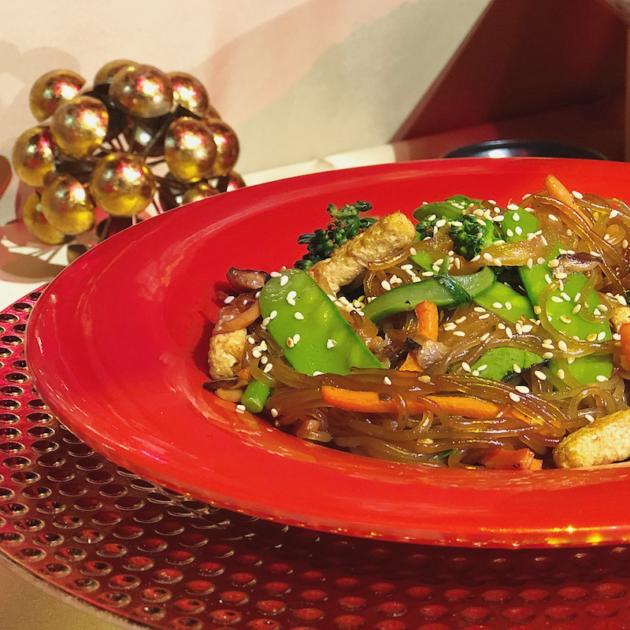 Japchae Vegetable Noodle Stir Fry