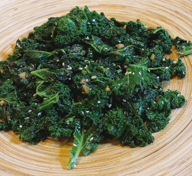 Kale With Ginger