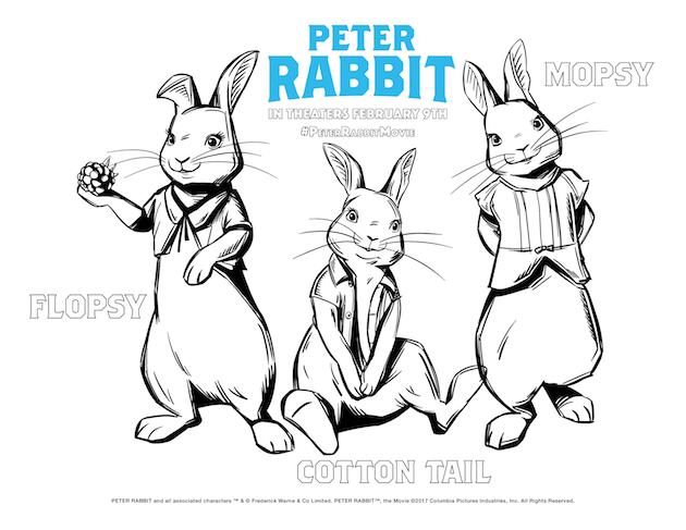 Peter Rabbit Coloring Sheet