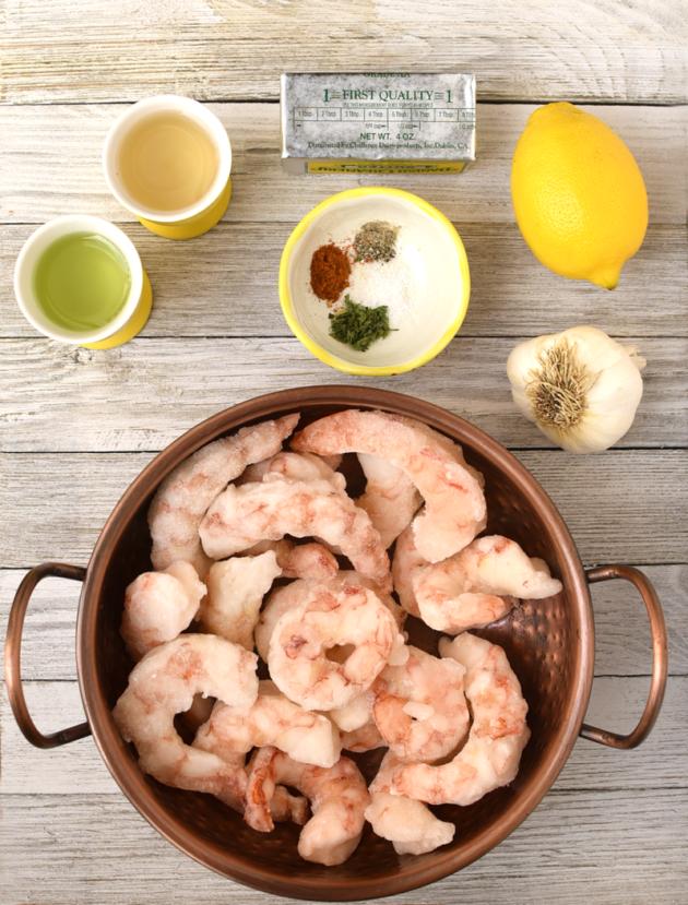 Garlic Shrimp Ingredients