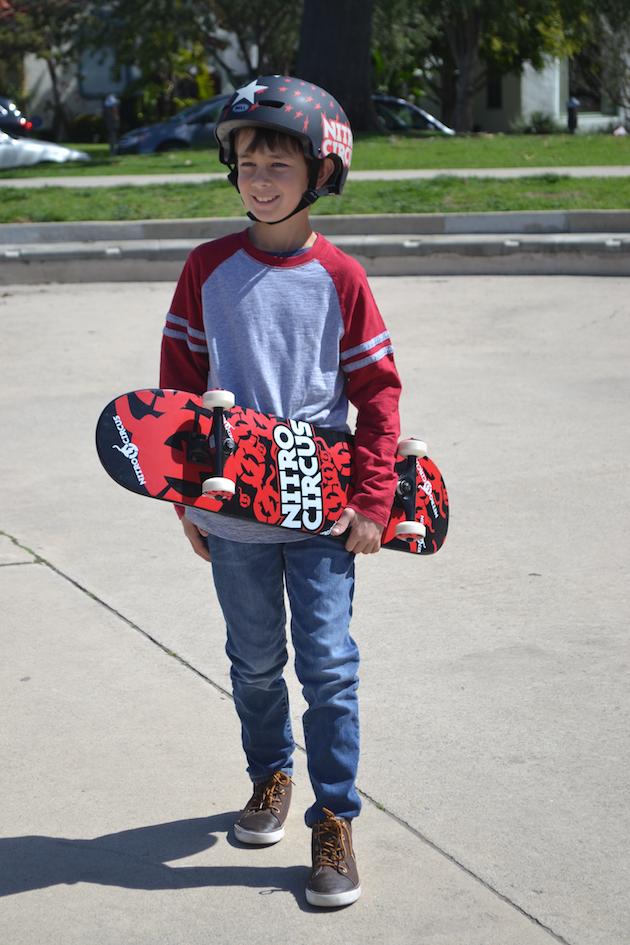 Nitro Circus Skateboard and Helmet