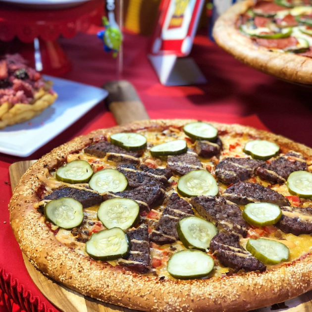 Pixar Fest Cheeseburger Pizza