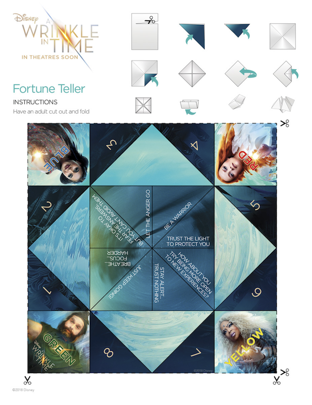 A Wrinkle In Time Activity Sheet