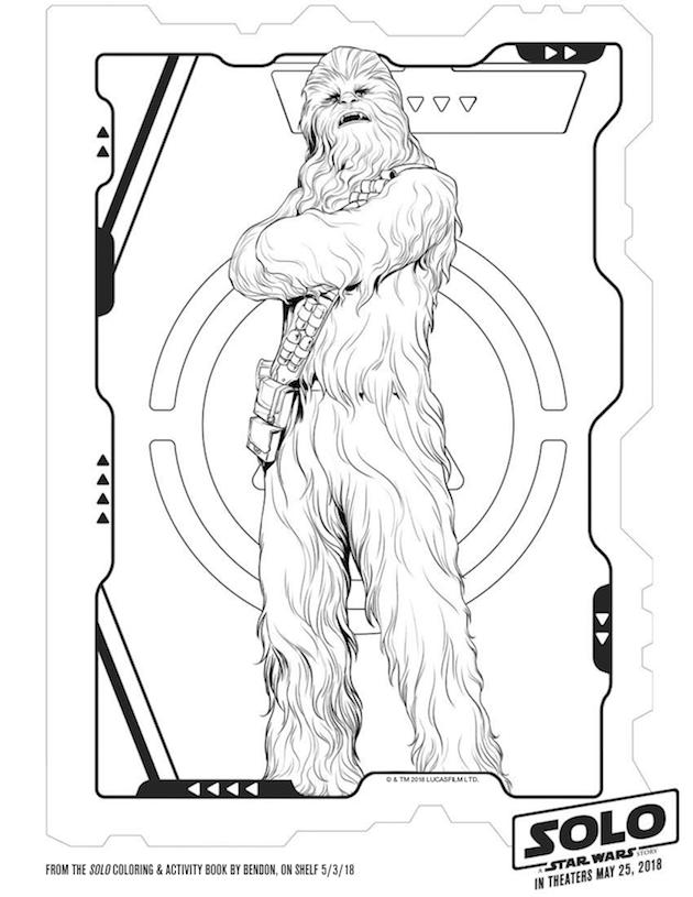Chewbacca Coloring Sheet