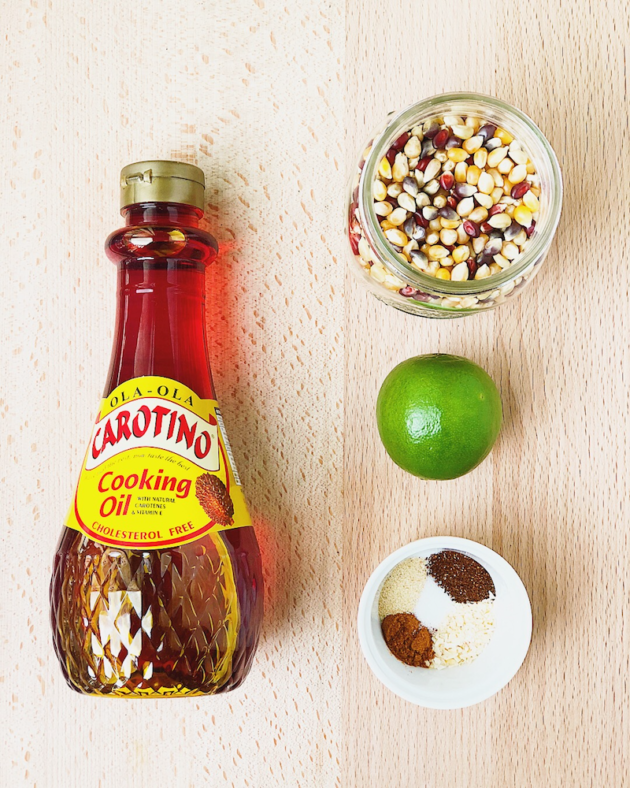 Chili Lime Popcorn Ingredients