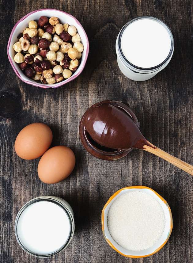 Chocolate Hazelnut Ice Cream Ingredients