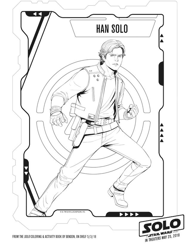 Han Solo Coloring Sheet