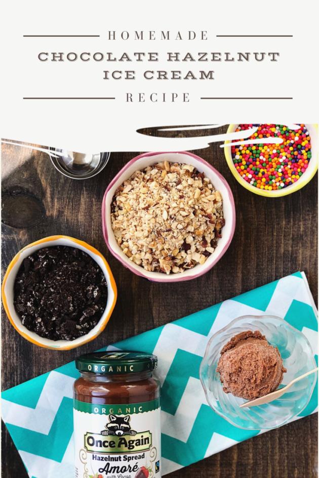 Homemade Chocolate Hazelnut Ice Cream Recipe