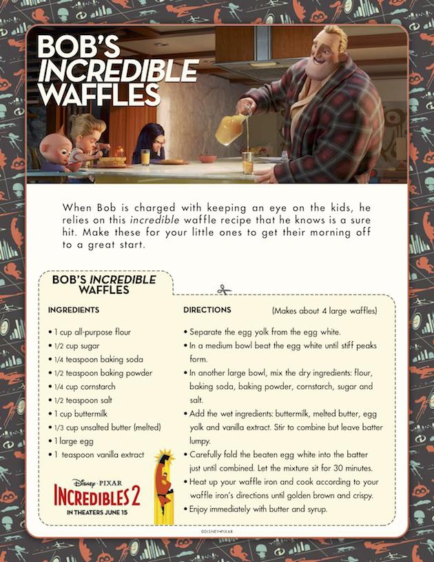 Incredibles 2 Bobs Incredible Waffles
