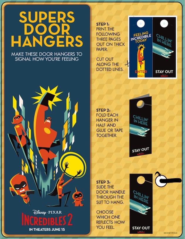 Incredibles 2 Door Hanger