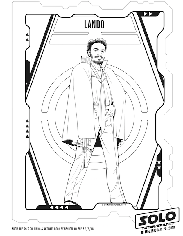 Lando Coloring Sheet