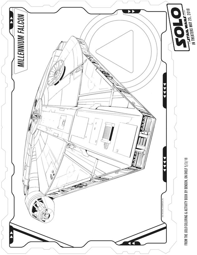 Millenium Falcon Coloring Sheet