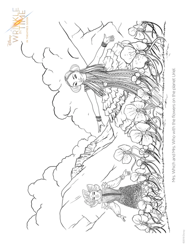 Wrinkle in Time Coloring Page