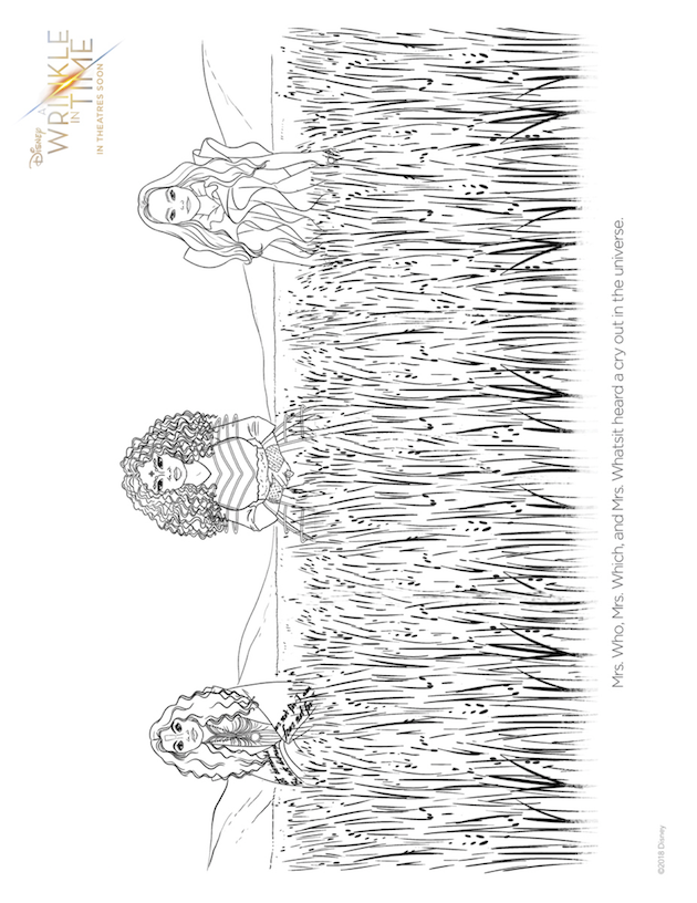 Wrinkle in Time Coloring Sheet