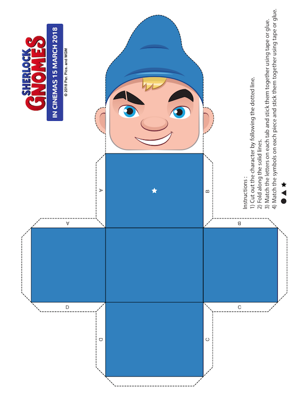 Papercraft Gnomeo 1