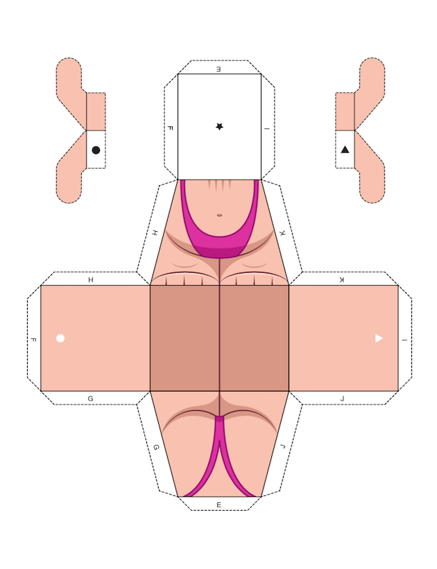 Papercraft Mankini 2