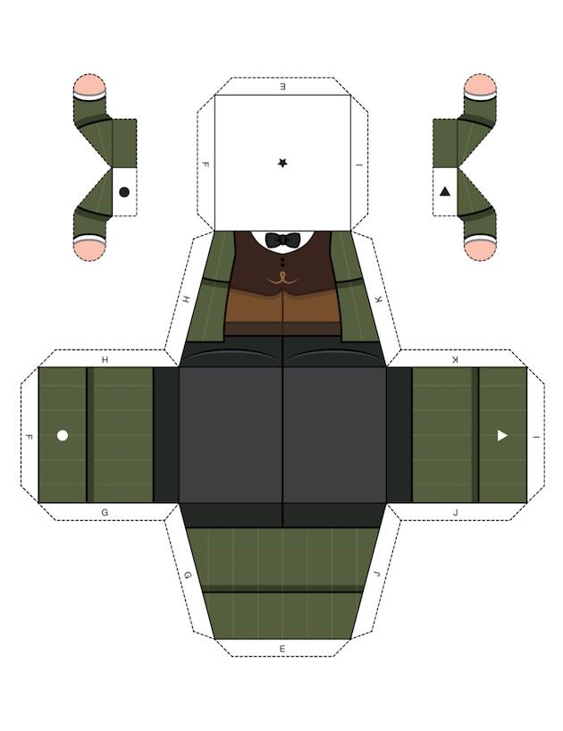 Papercraft Sherlock 2