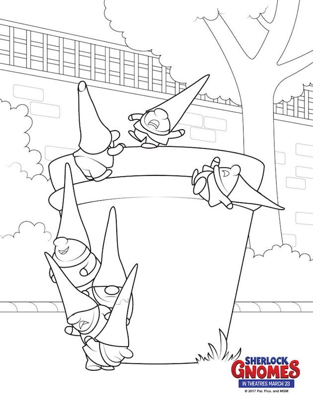 sherlock gnomes coloring page goons