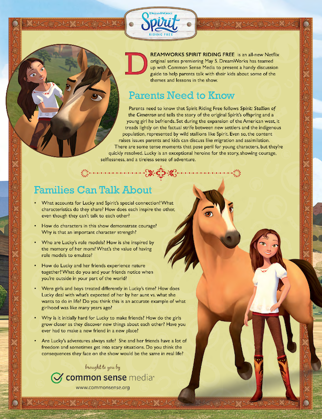 Spirit Riding Free Discussion Guide 2