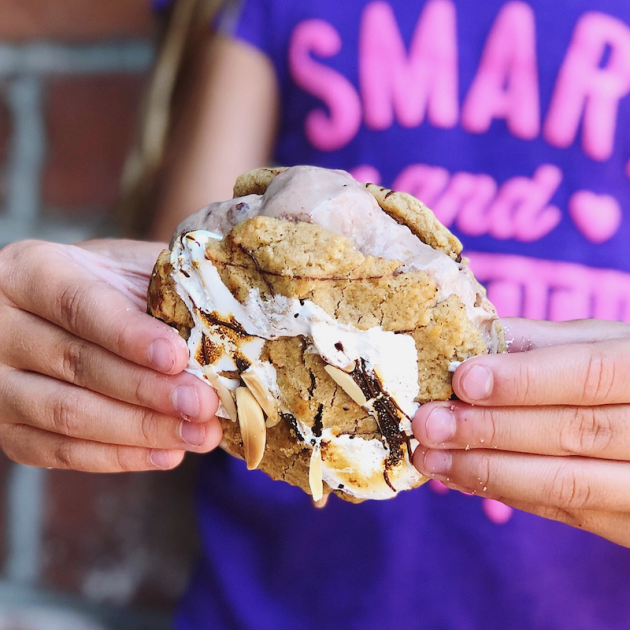 Rocky Road Ice Cream Sandwich