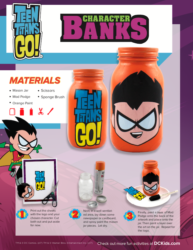 Teen Titans Character Bank