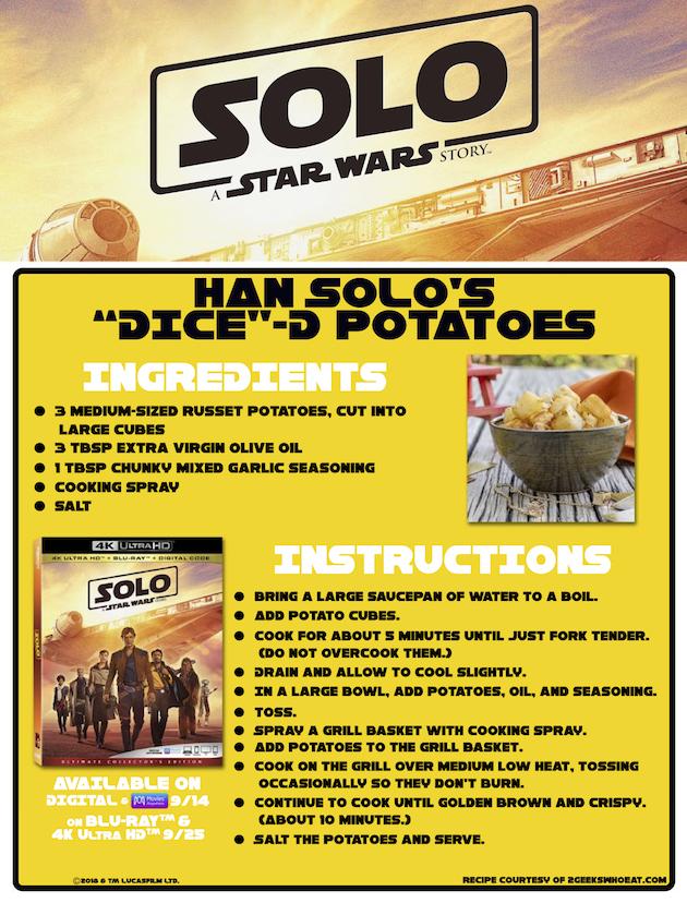 Han Solo Diced Potatoes