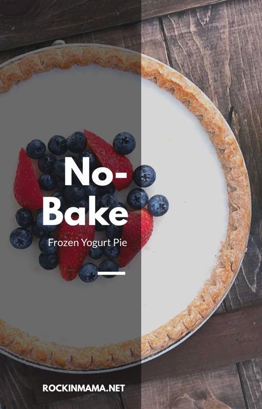 No Bake Frozen Yogurt Pie