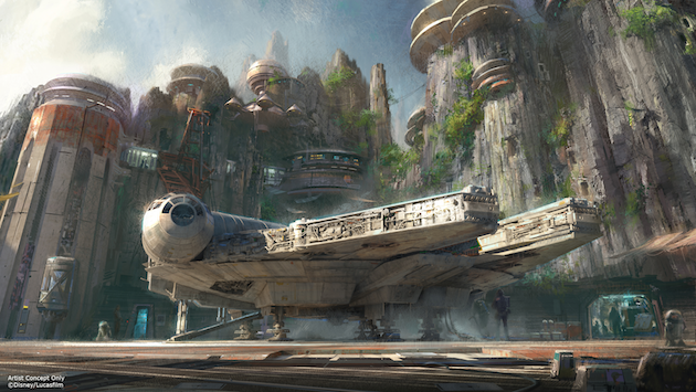 Star Wars Land Concept Disneyland