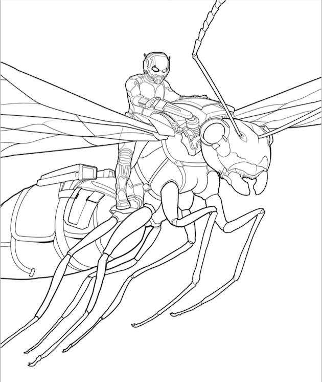 Ant-Man Coloring Sheet