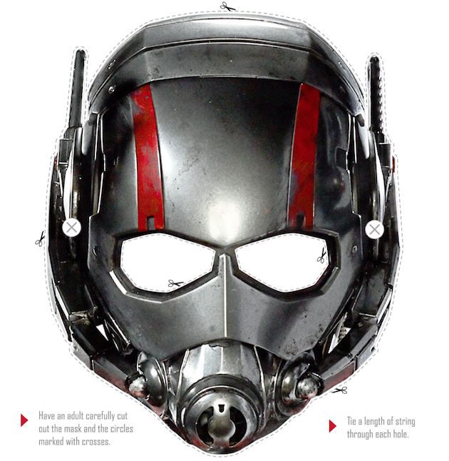 Ant-Man Mask Instructions