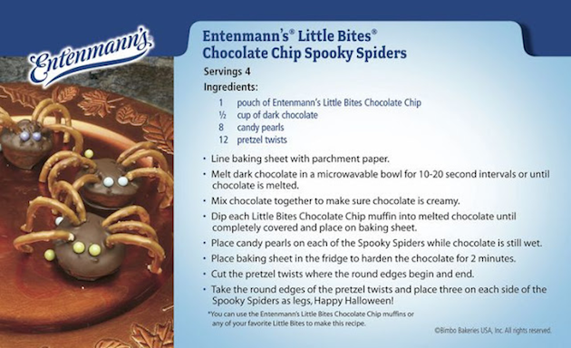 Chocolate Chip Spooky Spiders