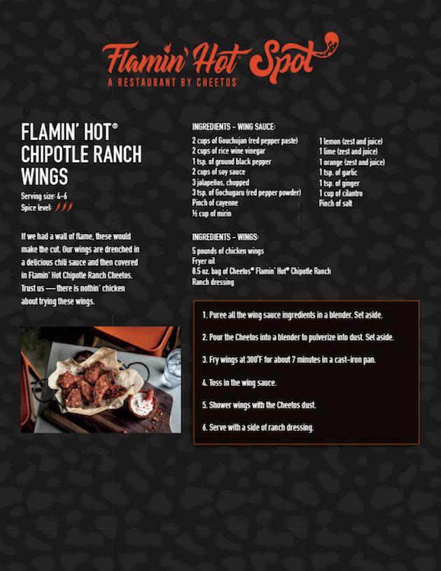 Flamin Hot Chipotle Ranch Wings