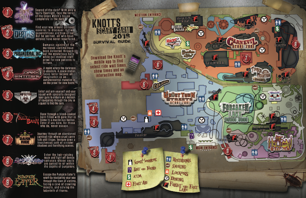 Knotts Scary Farm Map