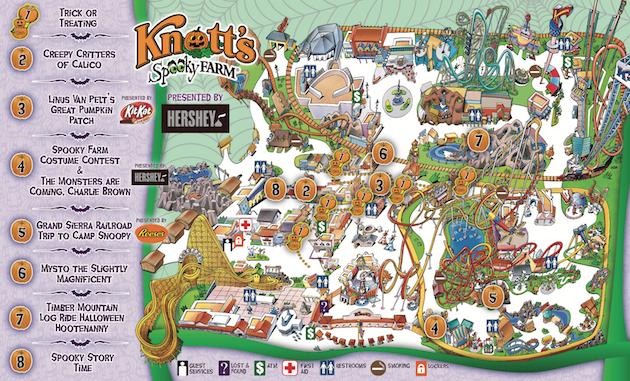 Knotts Spooky Farm Map 2018