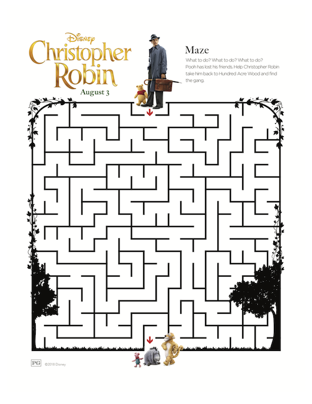 Christopher Robin Printable Maze