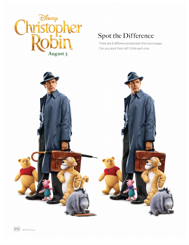 Christopher Robin Spot the Difference