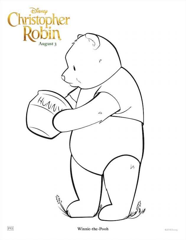 Pooh Coloring Sheet