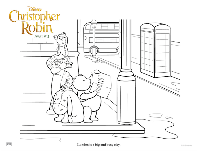 Pooh and Friends Coloring Sheet