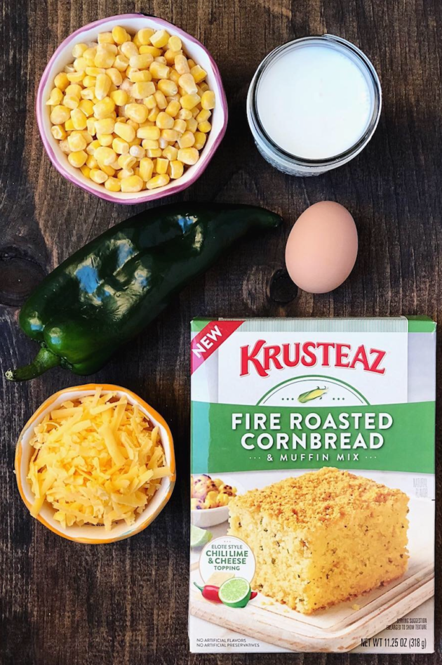 Poblano Stuffed Cornbread Ingredients