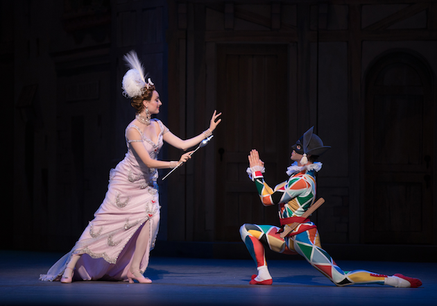 Claire Davison and James Whiteside in Harlequinade