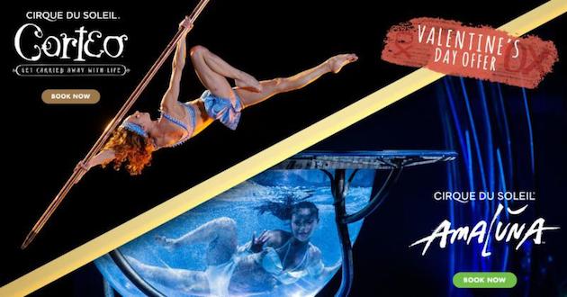 Cirque du Soleil Valentines Offer