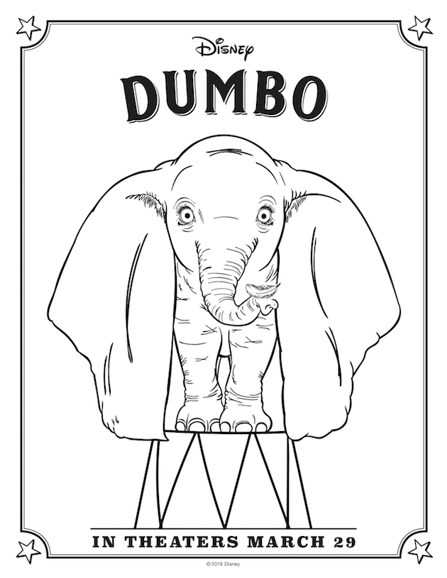 Dumbo Coloring Sheet